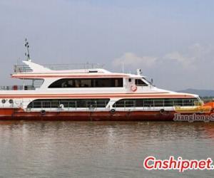 江龙船舶批量建造32m199客位钢玻复合客船试航成功