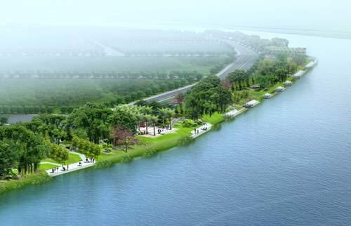 海珠区东南部官洲岛(官洲围)上,处于珠江后航道仑头水道和官洲水道