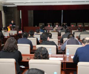 厅考核组来引嫩管理处开展2015年度述职述责述廉工作