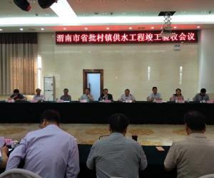 省水利厅对渭南市省批村镇供水工程进行竣工验收