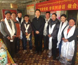 西藏自治区水利厅孙献忠厅长走访慰问藏历新年坚守岗位的驻村工作队队员
