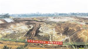 【关注】大型围堰工程开挖 南渡江引水工程右岸泵站加紧施工
