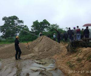 【原创】定安县加强河湖岸线管理保护,多部门联合打击非法采沙