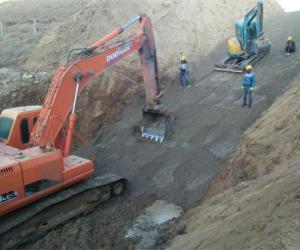 灵武市水洞沟骨干坝除险加固工程开工建设