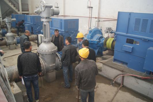 兰州市大砂沟电力提灌工程管理处总干一泵站负载试
