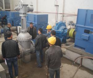 兰州市大砂沟电力提灌工程管理处总干一泵站负载试运行成功
