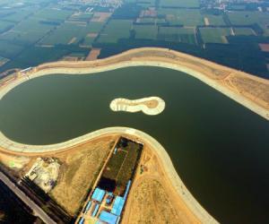 中国新闻社:南水北调工程东线聊城段 东邢湖水库已蓄水260万立方