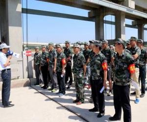 南水北调东线山东干线济宁局举行2017年度防汛应急演练