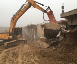 引黄入冀补淀项目河北直管段衡水顺河庄桥顺利拆除
