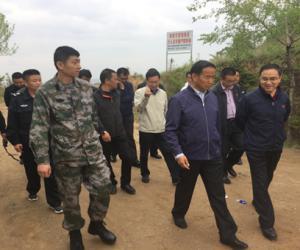 市人大常委会主任马海瑛督促检查 城西区防汛工作