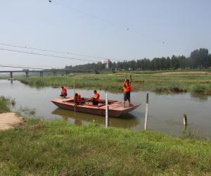 东茨村水文站迎战今年最大洪峰
