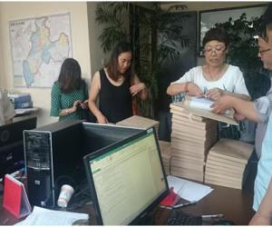昭通市档案局对昭通分局中小河流竣工档案进行初步验收