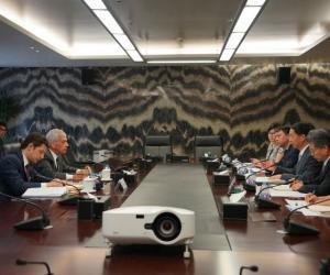 林初学与巴西驻华大使马尚会谈