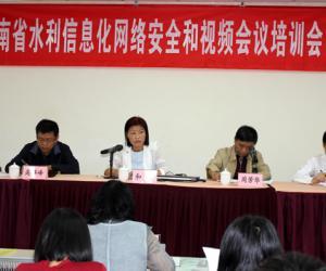 省水利厅组织召开全省水利信息化网络安全及视频会议培训会