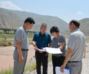 天水市水务局局长汪杰刚检查指导武山县河长制推进工作