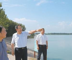 李锦斌在沿淮和皖北地区督察环境保护工作时强调