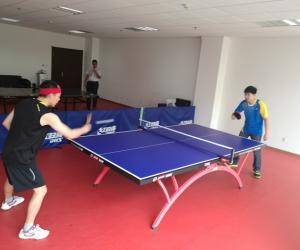 我厅乒乓球兴趣小组开展了组内比赛