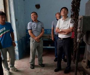 副巡视员刘大军对盘山中型泵站开展安全鉴定复核工作