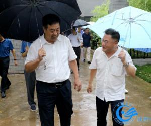 省水利厅党组书记厅长王拴虎在西安水文局柳林水文站调研