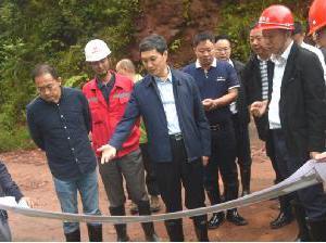 省政府副省长、市委书记叶壮调研南郊水厂引水工程、铜头引水工程和九龙水库建设情况