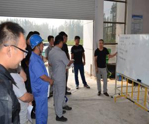 万年闸泵站管理处结合机组大修开展现场培训