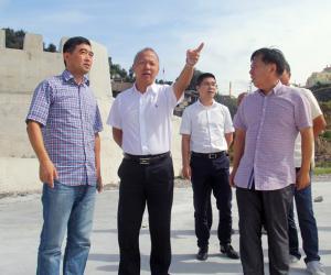 玉环市市长吴才平督查海洋渔业防台工作