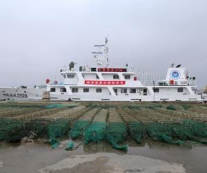 长海渔政再行动 三千地滚笼被集中销毁