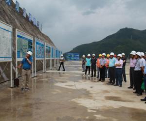 水利部长江水利委员会赴夹岩水利枢纽工程开展导截流阶段验收准备工作检查