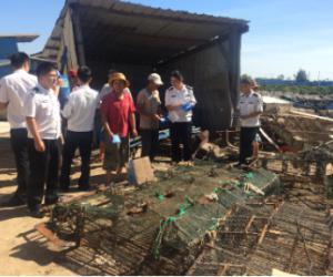 市、县联合开展清理违规渔具专项执法行动