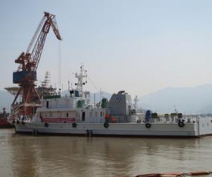 福州300吨级渔政船完成下水