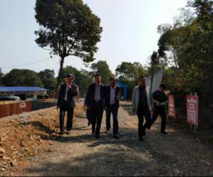 市水利局局长廖荣良督查道县水利工程建设