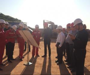 省水利厅副厅长罗毅君来永州检查指导涔天河水库和灌区工程建设