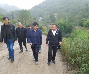 吉永贵调研苏木水库水文专用站建设工作