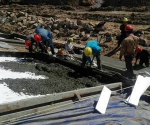 惠农渠三标段渠道砌护工程接近尾声