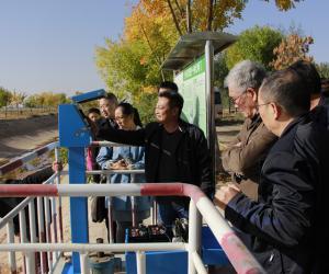航天福道平板测控一体化闸门咨询会在青铜峡河东灌区召开