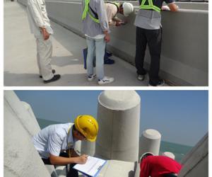 广东省质监站对岛隧工程进行第二次质量鉴定工作
