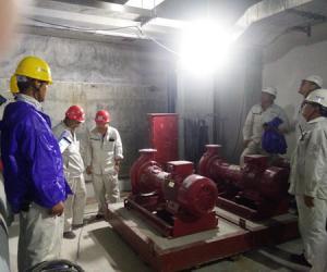 Ⅰ工区开展西人工岛现场施工质量检查