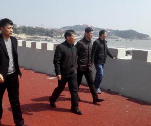 市水利局副局长王二虎带队检查湄洲岛、北岸防汛备汛和水利工程安全度汛工作
