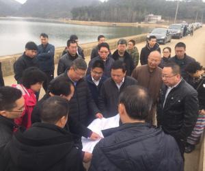 省水利厅党组书记、厅长王扬调研黔中水利枢纽工程试通水情况