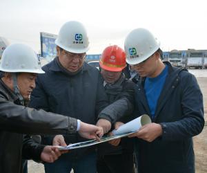 省水利厅总工程师张建中到中部引黄工程调研