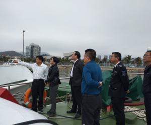 东莞市海洋与渔业局局长陈俊到香洲渔港考察调研
