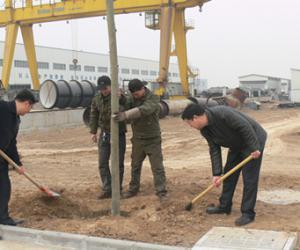 局领导到赵县水利工业园进行植树活动共创绿色园区