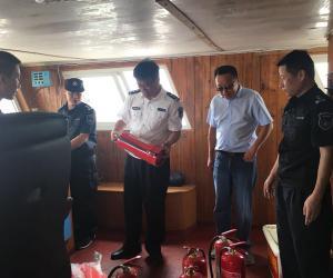 嵊泗县海洋与渔业局开展伏休渔船开捕安全检查