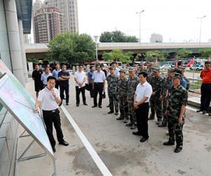 天津警备区勘察我市防汛地形