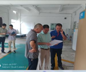 市水务局廖杰副局长检查炳草岗水厂危险化学品管理情况